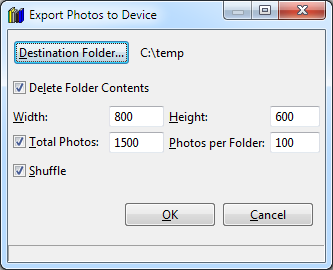 Export Photos to Device