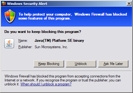 Windows Security Alert