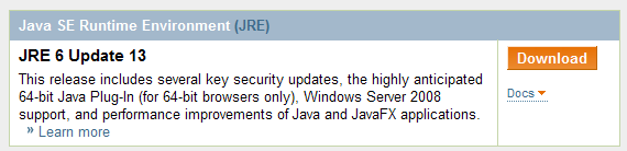 Java SE Runtime Environment (JRE)