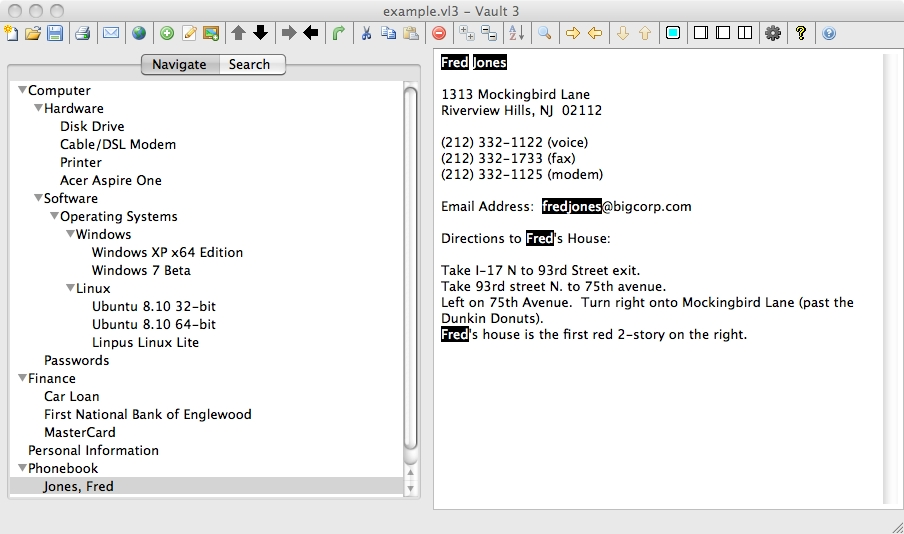 Vault 3 Running on Mac OS X
