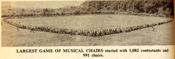 Joaquin Moraga Junior High School Sets 1977 World Record for Musical Chairs