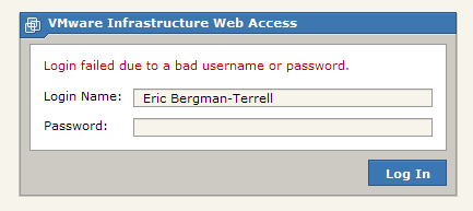 Another failed login attempt