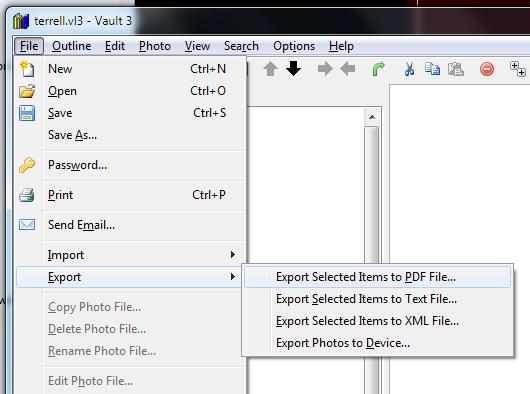 Vault 3 PDF Export